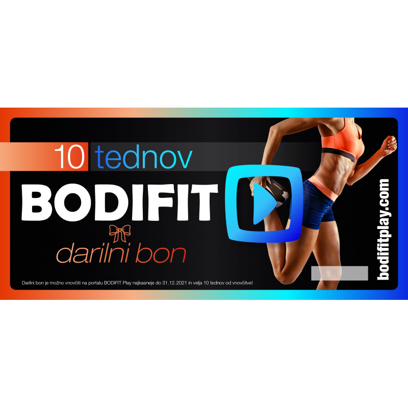 Darilni bon - 10 tednov BODIFIT Play-a