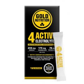 Gold Nutrition® 4 ACTIVE ELECTROLYTES, 10 vrečk, prehransko dopolnilo