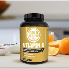 Gold Nutrition® VITAMIN C, 60 kapsul, prehransko dopolnilo